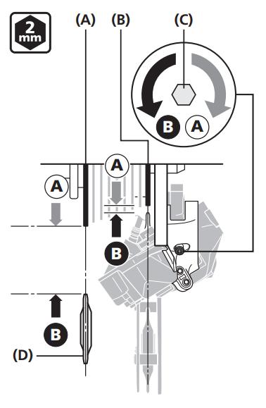 Adjust Di2 rear derailleur guide pulley distance