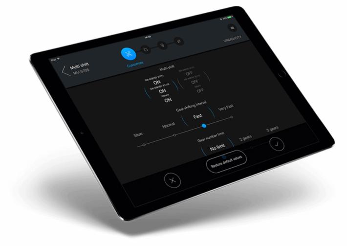 e-tube ipad - set up synchro shift