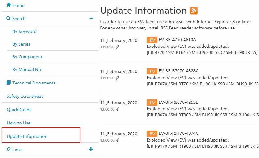 Shimano update information