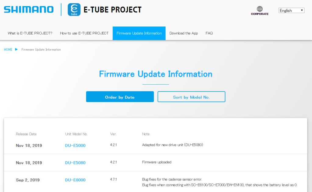 Firmware update information